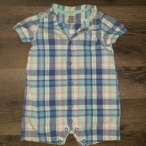 3/$12 | 12m Carters Plaid Buttonup Romper